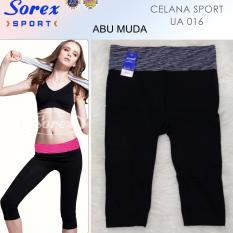 Jual Sorex Celana Sport Ua 016 Pants 3 4 Legging Olahraga Senam Yoga Abu Muda Branded Murah