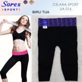 Harga Sorex Celana Sport Ua 016 Pants 3 4 Legging Olahraga Senam Yoga Biru Online