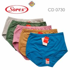 Sorex Fine Cotton - 6 Pcs Celana Dalam Wanita Type 0730 Size L, XL, XXL - Warna Random
