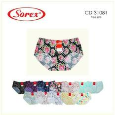 Spesifikasi Sorex Seamless 3 Pcs Celana Dalam Wanita Sorex Art 31081 Bagus