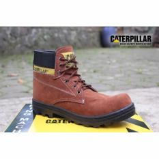 SP sepatu caterpillar safety boots COKLAT (Oren)