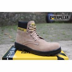 SP sepatu caterpillar safety boots Cream