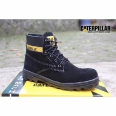 SP sepatu caterpillar safety boots Hitam