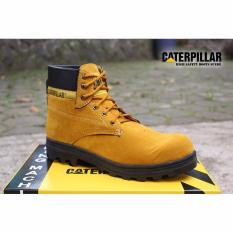 SP sepatu caterpillar safety boots Kuning / Tan