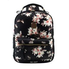 Merek Spanyol 2016 Desain Women Leather Backpacks Tas Sekolah Siswa Ransel Wanita Tas Floral Printing Paket untuk Wanita-Intl