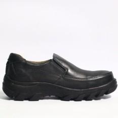 SPARTAN - sepatu boots pria safety semata kaki untuk kerja kulit sapi asli warna Hitam