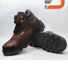 spartan sepatu boots safety pria /sepatu boots pria /sepatu kitchen di atas mata kaki asli kulit- coklat