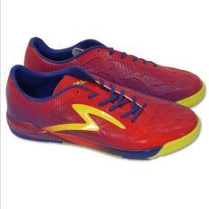 Specs Swervo Thunderbolt In Emperor Red Naval Blue Spot Yellow   Sepatu Futsal
