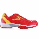Diskon Specs Thor Sepatu Badminton Red Yellow White