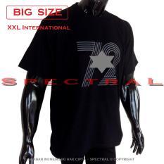 Spectral – BIG SIZE XXL INTERNATIONAL 100% Soft Cotton Combed Kaos Distro Jumbo BIGSIZE T-Shirt Fashion Ukuran Besar Polos Celana Atasan Pria Wanita Katun Bapak Orang Tua Gemuk Gendut Lengan Simple Sport Casual 2L 2XL Baju Cowo Cewe Pakaian Terbaru