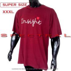 Toko Spectral Kaos Distro Super Big Size Xxxl 100 Soft Cotton Combed Jumbo Bigsize T Shirt Fashion Ukuran Besar Polos Celana Atasan Pria Wanita Katun Bapak Orang Tua Gemuk Gendut Simple Sport Casual Halus Baju Cowo Cewe Pakaian Super Size 3L Insight Maroon Lengkap