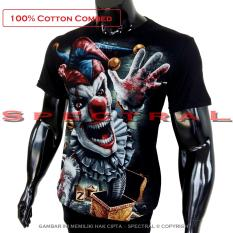 Review Pada Spectral Kaos Distro T Shirt Distro Fashion 100 Soft Cotton Combed 30S Kaos Pria Baju Distro T Shirt Gambar Badut Tgn Darah Horor Setan Seram Iblis Demon Mistis Sadis Nakal Devil Malaikat Jahat Gaib Ghoib Kartun S*xy Seksi Gaul Mayat Tengkorak Horror