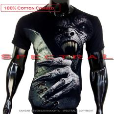 Spectral - Kaos Distro T-Shirt Distro Fashion 100% Soft Cotton Combed 30s Kaos Pria Baju Distro T - Shirt Gambar MONSTER Horor Setan Seram Iblis Demon Mistis Nakal Devil Malaikat Jahat Gaib Kartun Metal Rock Sexy Cewe Seksi  Mayat Tengkorak Horror