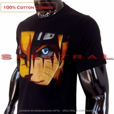 Spectral - Kaos Distro T-Shirt Distro Fashion 100% Soft Cotton Combed 30s Kaos Pria Kaos Fashion Baju Distro T - Shirt Gambar NARUTO VS KYUBI Anime Kartun Sennin Ekor 9 Superhero Sablon Atasan Pria Wanita Katun Simple Keren Cowo Cewe Pakaian - Kaos Hitam