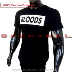 Spectral - Kaos Distro T-Shirt Distro Fashion 100% Soft Cotton Combed 30s Kaos Pria Kaos Fashion Baju Distro T - Shirt Gambar Tulisan BLOODS BLOOD POLOS Art Sablon Merek Modern Atasan Pria Wanita Katun Simple Keren Cowo Cewe Pakaian Distro - Kaos Hitam