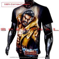Spectral - Kaos Mobile Legend ROGER T-Shirt Distro Fashion 100% Cotton Combed 30s Pria Wanita Cewe Cowo Baju 3D Terbaru Kekinian Jaman Animasi Gambar Legends MobileLegend Polos Lengan Bagus Keren Bandung Murah Anime Kartun Superhero Atasan Pakaian