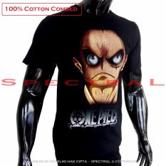 Spectral - Kaos Distro T-Shirt Distro Fashion 100% Soft Cotton Combed 30s Kaos Pria Kaos Fashion Baju Distro T - Shirt Luffy Gear 3 Lutfi Lufy One Piece Onepiece Bajak Laut Anime Superhero  Atasan Pria Wanita Katun Simple Keren Pakaian Distro - Kaos Hitam