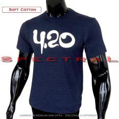 Spectral - Kaos Distro T-Shirt Distro Fashion 100% Soft Cotton Misty 30s Bagus Murah TShirt 3d Kekinian Jaman Now Lengan Baju Atasan Cowo Cewe Pria Wanita Terbaru Baru Keren Atasan Bandung Jakarta Gambar Tulisan 420 DONGKER  4.20 Merek Lagi Trend - NAVY