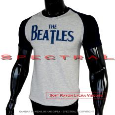 Spectral - Kaos Distro T-Shirt Pola M Fit To L Katun Rayon Raglan Reglan Fashion 420 4.20 The Beatles Beatle Musik Rock Pop Gitar Gambar Keren Bagus Murah Atasan Pria Wanita Cewe Cowo Baju Jaman Kekinian Bandung Jakarta Lengan Kombinasi  Pakaian Polos a