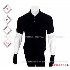 Spectral – Kaos Polo Shirt S M L XL Kaos Polos Basic Kaos Fashion Kaos Kerah Pakaian Berkerah Pria Wanita Cowo Cewe Bahan Lacos Simple Simpel Atasan Casual Kaos Distro Kaos Sport Premium Bagus Murah Lembut Kasual T-Shirt Baju Polos Polo Sport - HITAM