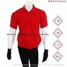 Spectral – Kaos Polo Shirt S M L XL Kaos Polos Basic Kaos Fashion Kaos Kerah Pakaian Berkerah Pria Wanita Cowo Cewe Bahan Lacos Simple Simpel Atasan Casual Kaos Distro Kaos Sport Premium Bagus Murah Lembut Kasual T-Shirt Baju Polos Polo Sport - MERAH