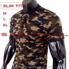Spectral - Kerah Koko Polo Shirt Army Slim Fit M L XL T-Shirt Pria Wanita Kaos Polo Pakaian Pria Fashion Pria Kaos Kerah Baju Berkerah  Kaos Cowo Atasan Kasual Kaos Distro Sport Topi Jaket Celana Sepatu Tni Bomber Pilot Loreng Armi Abri Motif Tentara