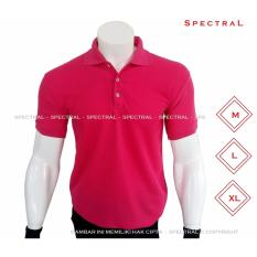 Spectral Polo Shirt Polos M L Xl Lengan Pendek Kaos Kerah Pakaian Berkerah Atasan Pria Wanita Cewe Cowo Lacos Pique Lacost Fashion Simple Keren Simpel Formal Casual Korean Bagus Murah Hot Pink Spectral Diskon 40