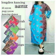 Spesial!! Daster Longdress Batik Gamis Gaun Batik Baju Hamil Busui Muslim