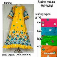 Spesial!! Daster Longdress Marsha Gamis Gaun Batik Muslim Baju Hamil Busui Set