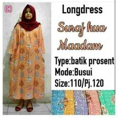 Spesial!! Daster Longdress Suraj Hua 03 Gamis Gaun Batik Baju Hamil Busui Muslim