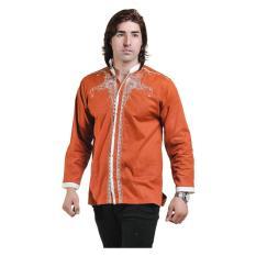 Harga Spicatto Sp 111 04 Kemeja Koko Baju Muslim Pria Cotton Keren Orange Merk Spiccato