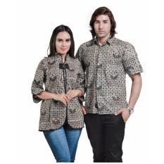 Spicatto SP 114.16 Busana Couple Kemeja Batik Wanita-Cotton-Bagus Kekinian(Coklat Kombinasi)