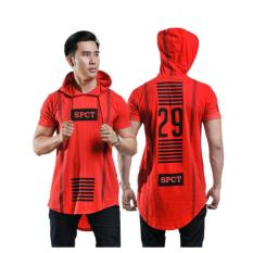 Dapatkan Segera Spicatto Sp 171 13 Kaos Pria Cotton Ombed Keren Merah