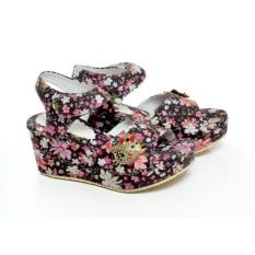 Jual Beli Spicatto Sp 579 05 Sandal Wedges Anak Perempuan Sintetis Lucu Dan Modis Hitam Jawa Barat
