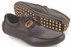 Spiccato SP 543.05 Sepatu Formal Mocassin Pria - Bahan Sintetis - Gaul Dan Modis - Coklat