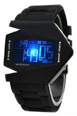 Toko Sport Cuff Unisex Black Silicone Strap Quartz Wrist Watch Jam Tangan Online Hong Kong Sar Tiongkok