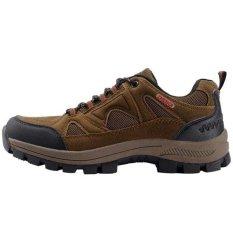 Beli Olahraga Sepatu Pria Kulit Nubuck Tahan Air Hiking Sepatu Climbing Outdoor Sepatu Cokelat Not Specified Asli