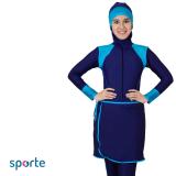 Toko Sporte Baju Renang Muslim Slimfit Sm 27 Navy Blue Sporte Indonesia