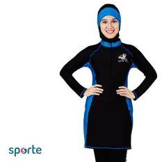 SPORTE Baju Renang Muslim Slimfit SP 03 Hitam Biru