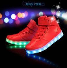 Olahraga Sepatu LED Sneakers Luminous Sneakers Sepatu untuk Girls Boys Anak Merah-Intl
