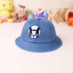 Musim Semi dan Musim Gugur Bayi Hat Cowboy Topi Ember Topi Sun Hat Koreanversion dari Puppy Anak Tide Cap Hat Pria dan Wanita 2 Tahun (1.5-3 Sekitar Usia + SEKITAR 50 Cm Per Cent) -Intl