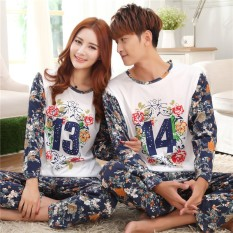 Spring and Autumn New Long-sleeved Couple Pajamas, Casual Home Service - (female Models) - intl
