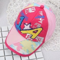 Musim Semi dan MUSIM PANAS Bayi Mengambil Topi Baseball Sun Visor 1 + Wildcartoon Gambar Anak-anak Cap (Referensi Usia 10 -36 Bulan + 46-50 Cm + 1 + Mawar (depan Wajah)) -Intl