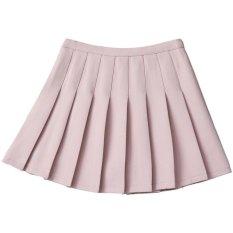 Harga Musim Semi Dan Musim Panas College Angin Siswa Rok High Waist Rok Tenis Wanita Rok Rok Pendek Celana Rok Cahaya Merah Muda Internasional Yg Bagus
