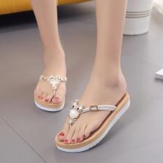 Musim Semi dan Musim Panas Lady Home Furnishing Sandal Baru Dual Warna Bawah Owl Pinch Sandal Atas Nama Wanita- INTL