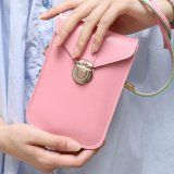 Diskon Spring Dan Summer Baru Tas Wanita Retro Shoulder Messenger Bag Small Square Fashion Korea Versi Messenger Mini Bag Pink Intl Tiongkok