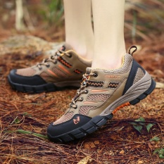 Spring dan Summer Baru Pria Breathable Sepatu Kasual Outdoor Wear Non-slip Hiking SEPATU-