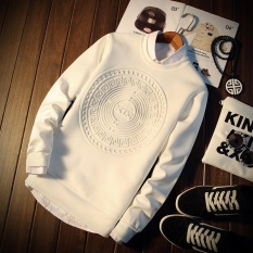 Iklan Spring Fashion Tops Tees Plus Size Long Sleeve Sweaters Handsome Pullover Men S Fashion Print Casual Pullover Tops Intl