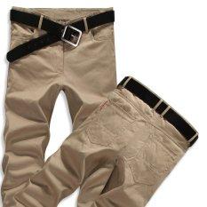 Harga Musim Semi Musim Panas Pria Casual Pants Cotton Celana Lurus Ukuran Lebih Internasional Online Tiongkok