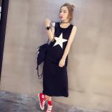 Review Spring Tide Korea Fashion Style Baru Slim Terlihat Langsing Tanpa Lengan Bottoming Kemeja Hitam